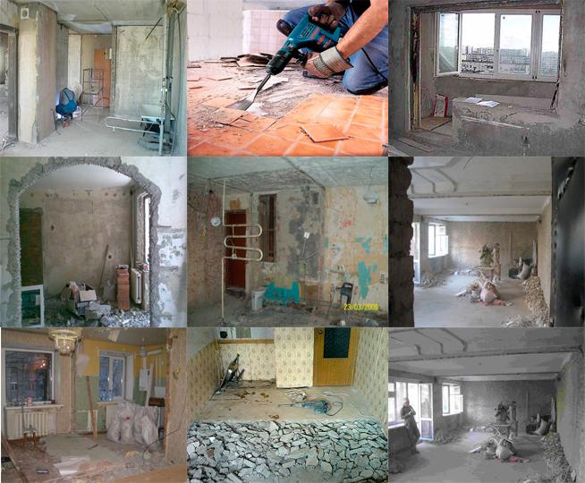 Демонтажные работы в Горловке